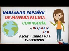 NEW VIDEO! Learn how to use more specific verbs related to 'decir' (to say): Relatar, Narrar, Describir, Rechazar, Rebatir, Negarse a, Chillar, Exclamar, Berrear, Susurrar, Murmurar, Cuchichear, Mascullar, Balbucear, Tartamudear, Sugerir, Insinuar, Proponer. Enjoy!