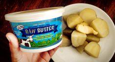 Top with raw kosher sea salt butter  www.organicpastures.com