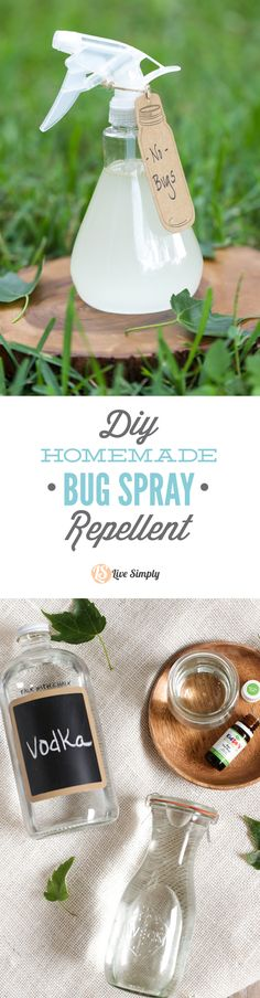 A super easy homemade bug spray that only requires 4 ingredients! This effective DIY bug spray repellent is safe for the whole family. http://livesimply.me/2015/05/03/homemade-bug-spray-repellent/