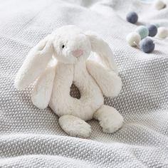 Jellycat Bashful Bunny Rattle | Newborn Toys | The White Company UK