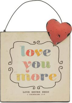 Love you more! Check out this mini wall hanging from @thecarpentree at a 45% discount!