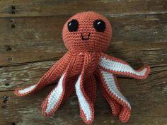 Crochet Octopus by MaeDayCrochetShop on Etsy Little Octopus, Crochet Octopus, Baby Booties, Cuddling, Super Cute, Teddy Bear, Crafty, Handmade, Stuff To Buy