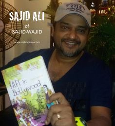 Sajid Ali (of talented Bollywood music composer duo Sajid-Wajid) is reading #HiFiinBollywood! Books Fiction Novel Indian Bookshelf Bookshelves Bookstores Bollywood