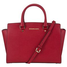 MICHAEL Michael Kors Selma Leather Satchel Bag at John Lewis   Partners 2bfac48f496