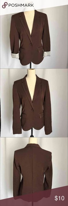 Ambience brown Blazer jacket career size m juniors The color is rich you can use it with folding sleeves for style. Ambiance Apparel Jackets & Coats Blazers