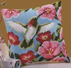 Hummingbirds Cross Stitch Cushion Kit By Vervaco