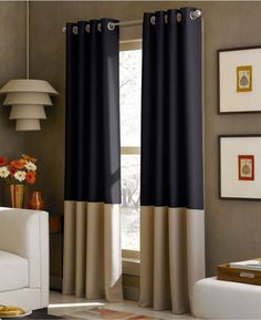 "NOOP CHF Kendall 2 Window Curtain Panels 52""x108"" Lined Grometed Header #CHF #Contemporary"