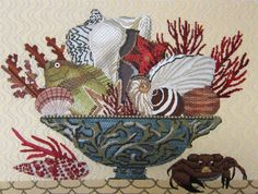 Embroidery Sea Shells | Sea-Shell-Compote (Melissa Shirley Designs - Stitch Guide by David ...