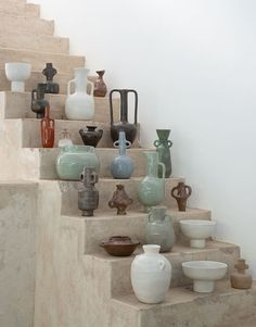 Cape Town ceramicist Jade Paton embraces the surprises that come from working with clay. The results are sophisticated but with a warm, hand-formed quirk. Ceramic Vase, Ceramic Pottery, Pottery Art, Slab Pottery, Thrown Pottery, Pottery Studio, Porcelain Ceramic, Cerámica Ideas, Decor Ideas