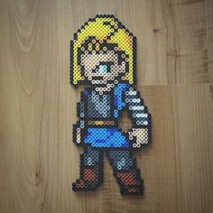 Android 18 - Dragon Ball perler beads by tarawashere88