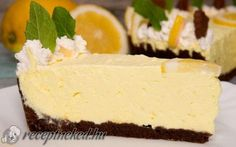 Citromkrémes pite Cheesecake, Food And Drink, Pie, Baking, Sweet, Recipes, Cakes, Torte, Candy