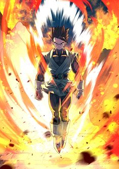 Good music at YT rimcada (click photo) Dragon Ball Gt, Anime Kunst, Anime Art, Vegito Y Gogeta, Character Art, Character Design, Ball Drawing, Animes Wallpapers, Cartoon Art