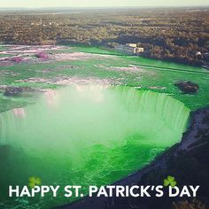 Happy St. Patricks Day Niagara Falls, River, Day, Nature, Outdoor, Outdoors, Naturaleza, Outdoor Games, Nature Illustration