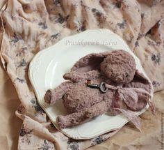 Купить Зайка тедди с ключиком - кремовый, пыльно-розовый, пыльная роза, зайка, зайка тедди