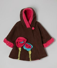 Take a look at this Brown Wrap Swing Coat - Infant, Toddler & Girls by Corky & Company on #zulily today!