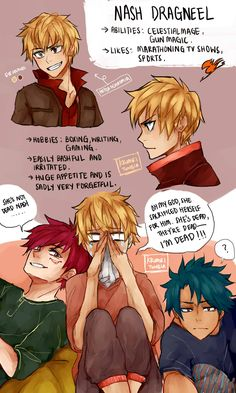 Fairy Tail: Next Generation. By Kkumri on Tumblr. Nash Dragneel.