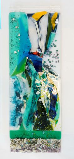 fused glass panel for the wall