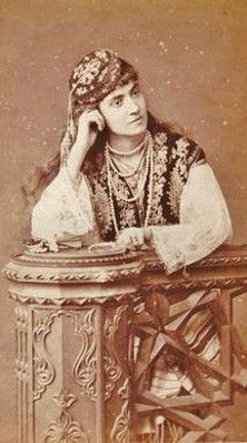 Portrait of a Greek ('Rum') woman from Istanbul, late-Ottoman era, ca. 1900.