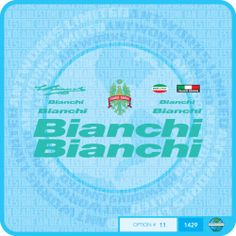 Bianchi Bicycle Decals Transfers Stickers Set 11 | eBay