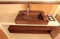 Раковина в ванную комнату из дерева своими руками