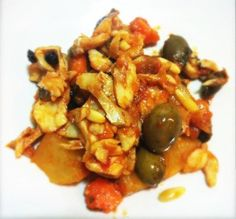 """Piscistoccu a gghiotta"" - Sicilian stockfish recipe, Messina style"