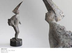 Bird Boy by Antonio Lopez Reche, bronze, 39x14x14cm, edition of 12.