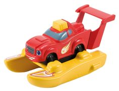 Blaze and the Monster Machines Transforming Bath Blaze. Race across your tub. Spinning propeller action. Pump up Blaze to build speed. Button-activated propulsion. Perfect addition or beginning to your Blaze collection!.