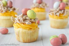 Bird's Nest Cupcakes from our friend @Dana Armstrong Hee Harroun {Taste and Tell} - adorably delicious!