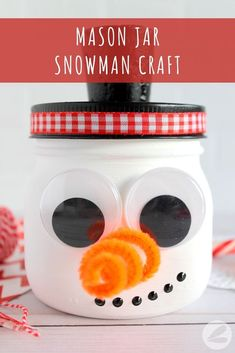 Mason Jar Snowman Craft