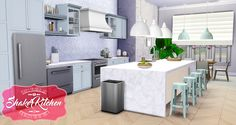 Sims 4 CC's - The Best: Shaker Kitchen by Peacemaker ic