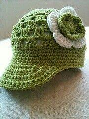 Lindo chapéu de crochê