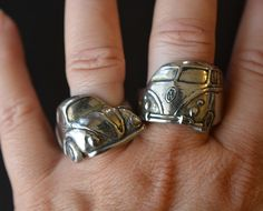 60′s Angled VW Bug Ring | Hot Rod Jewelry | Automotive Jewelry | Classic Car Enthusiast Jewelry for Gearheads by Hi Octane Jewelry | Hot Rod Jewellery | Gearhead Jewellery