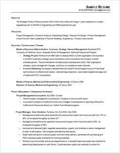 Sample Resume Template Hr Generalist Template  Hiring Manager