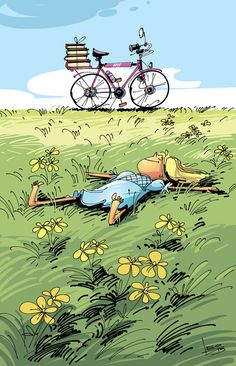Proper bicycle chain maintenance will allow you to keep your bike in tip-top condition for riding. Bicycle Art, Cycling Art, Children's Book Illustration, Whimsical Art, Belle Photo, Cute Drawings, Cute Wallpapers, Art Girl, Illustrators