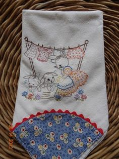 Stitches and etc.: Bunny Tea Towels
