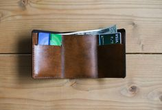 Custom Leather Wallet Minimalist Wallet Leather by RedLeafLeather