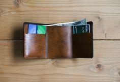 Custom Leather Wallet Minimalist Wallet Leather by RedLeafLeather