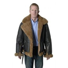 Irvin shearling aviator jacket | Men&39s Shearling | Pinterest