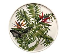 Cuadro Floral Tropical Dinnerware, Table Settings, Tableware, Painting, Ceramic Painting, Dishes, Flowers, Picture Wall, Porcelain Ceramics