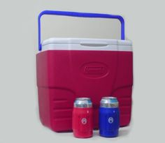 Cool! :)) Pin This & Follow Us! zCamping.com is your Camping Product Gallery ;) CLICK IMAGE TWICE for Pricing and Info :) SEE A LARGER SELECTION of camping coolers at   -  #hunting #campingaccessories #camping #insulatedbags #coolers #campinggear #campsupplies -  Coleman Patriotic 16-quart Excursion Cooler, with 2 Can Holder Bonus « zCamping.com