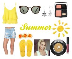 """""""Summer Style"""" by thecrystalheart on Polyvore featuring Glamorous, Havaianas, CÉLINE, Jewel Exclusive, Lancôme, NARS Cosmetics, women's clothing, women, female and woman"""
