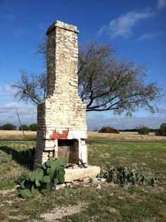 """this size and style would be perfect for patio """"ruins"""" fireplace."""