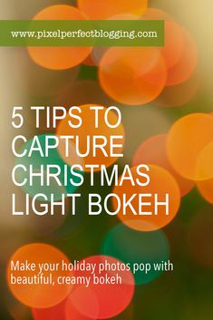 Are you ready to increase your photography skills this holiday season? Click here to see 5 tips to capture beautiful Christmas tree light bokeh this year. Photography Hacks, Photography Tips For Beginners, Photography Tutorials, Christmas Photography, Winter Photography, Blurry Lights, Beautiful Christmas Trees, Take Better Photos, Tree Lighting