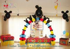 Decoración Fiesta Mickey Mouse www.happy-occasions.com