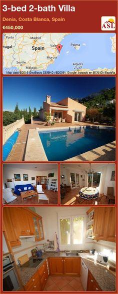 3-bed 2-bath Villa in Denia, Costa Blanca, Spain ►€450,000 #PropertyForSaleInSpain