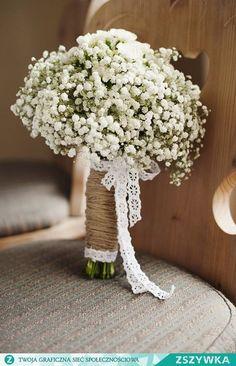 Baby's breath for a bouquet – Wedding ideas White Wedding Bouquets, Bride Bouquets, Flower Bouquet Wedding, Bridesmaid Bouquet, Floral Wedding, Rustic Wedding, Gypsophila Bouquet, Wedding Dresses, Dream Wedding