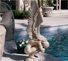 Angel Wing Art Sculptures   home kitchen home décor home décor accents sculptures statues