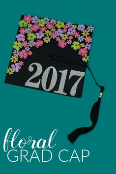 I don't want any of you to be the one with the boring hat at your graduation ceremony, so today I am sharing a super simple idea of you how you can make a DIY Floral Graduation Cap. It is so fun, girly, and inexpensive!
