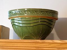 McCoy yellow ware mixing bowl - Sunrise Pattern ... It is called Yelloware because of the clay used and not the glaze color.