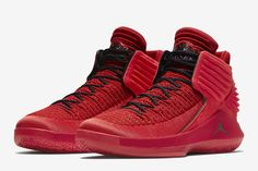 "Air Jordan 32 ""Rosso Corsa"" (University Red/Black) - EU Kicks: Sneaker Magazine"